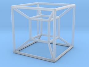 Tesseract (Hypercube) in Smooth Fine Detail Plastic