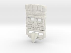 Customised Mayan Mask in White Natural Versatile Plastic