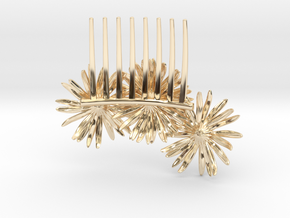 Daisy Comb in 14k Gold Plated Brass