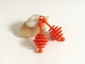 Colorful Honey Dripper Earrings in Orange Strong & Flexible Polished