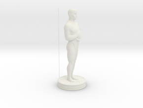 Oscar Statue in White Natural Versatile Plastic