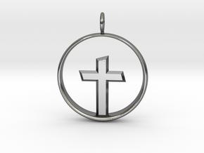 Cross Pendant 3 (Medium) in Polished Silver