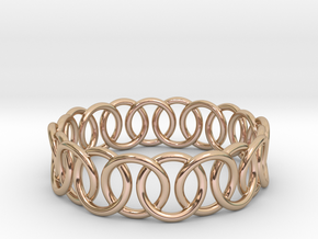 Ring Bracelet 68 in 14k Rose Gold Plated Brass