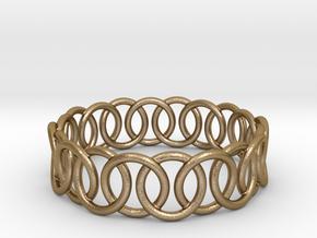 Ring Bracelet 70 in Polished Gold Steel