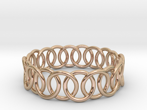 Ring Bracelet 73 in 14k Rose Gold Plated Brass