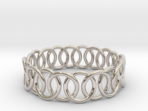 Ring Bracelet 73 in Rhodium Plated Brass