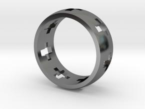 Cross Ring in Premium Silver