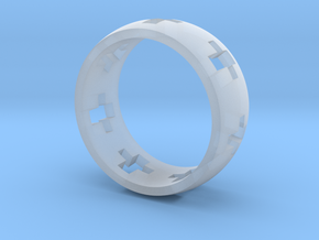 Cross Ring in Smoothest Fine Detail Plastic
