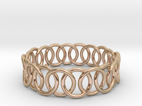 Ring Bracelet 75 in 14k Rose Gold Plated Brass