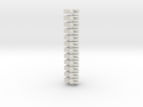 Gn15 1:35 Link and pin coupling to fit Kadee slot in White Natural Versatile Plastic