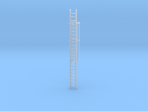 'S Scale' - 20 Ft. Caged Ladder in Smooth Fine Detail Plastic
