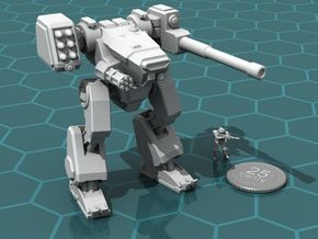 Terran Combat Walker, 15mm scale. in White Natural Versatile Plastic