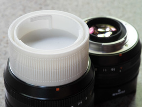 Fuji X mount double lens cap in White Strong & Flexible Polished