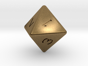 D8 dice in Natural Bronze