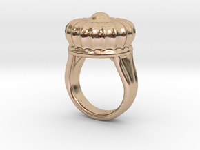 Old Ring 21 - Italian Size 21 in 14k Rose Gold Plated Brass