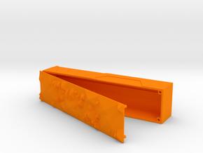 Pencilcase open in Orange Processed Versatile Plastic