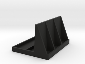 Remote Control and 3d Glass Stand in Black Natural Versatile Plastic
