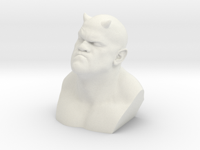 Demon Bust character in White Natural Versatile Plastic