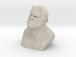 Demon Bust character in Natural Sandstone