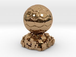 FIFA Ballon d'Or in Polished Brass