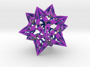 "complex stellate icosahedron ""Eladrin Form"" in Full Color Sandstone"
