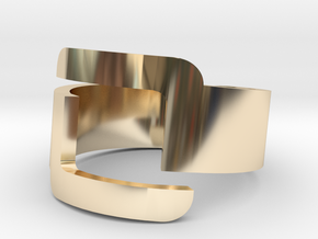 Connector Cool Plastic Ring [Size 8] in 14K Yellow Gold