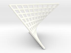 Hyperbolic triangle pendant in White Processed Versatile Plastic