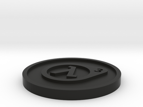 Half-Life 3 Lucky Coin in Black Natural Versatile Plastic