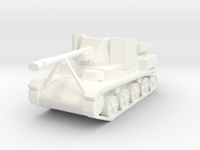 Jagd Toldi Hungarian Tank Hunter SPG 1/100th 15mm in White Processed Versatile Plastic
