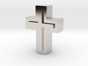Cross1  in Rhodium Plated Brass