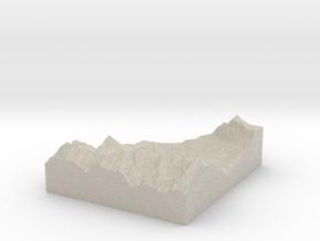 Model of Tajakopf in Natural Sandstone