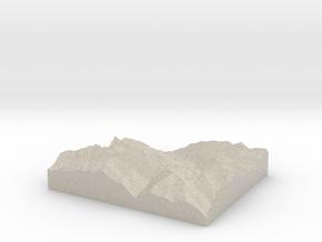Model of Kenzenkopf in Natural Sandstone