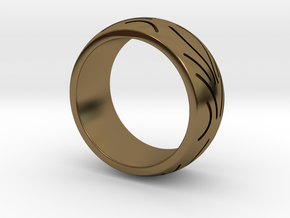 Motorcycle Low Profile Tire Tread Ring Size 9 in Polished Bronze
