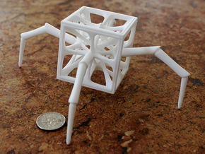 Aracno-Hedron in White Strong & Flexible Polished