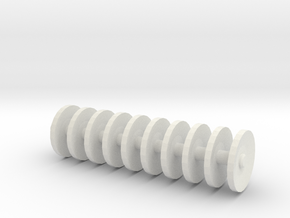 1/64 scale disc gang 1 inch long in White Natural Versatile Plastic