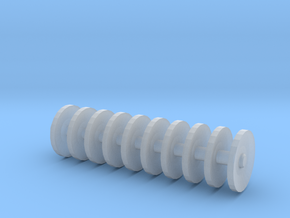 1/64 scale disc gang 1 inch long in Smooth Fine Detail Plastic