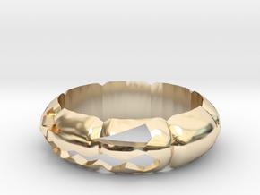 Halloween Pumpkin Ring in 14K Yellow Gold