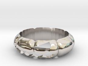 Halloween Pumpkin Ring in Platinum