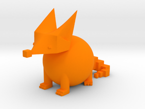 PRIMITIVE SHAPES FOX SCULPTURE 3-IN in Orange Processed Versatile Plastic