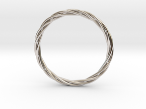 twisted bracelet in Rhodium Plated Brass