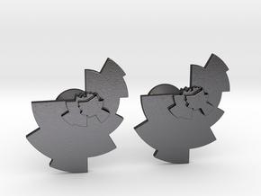 Data Visualization Cufflinks  in Polished and Bronzed Black Steel