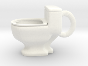 Toilet Mug in White Processed Versatile Plastic