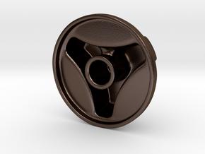 Knob Simple 3-lobe in Polished Bronze Steel