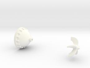 Cooper WW1 Aerial Bomb, 25 lb, 1/6 scale, cap in White Processed Versatile Plastic