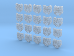 Tiger Face - 20, 20mm Icons in Smooth Fine Detail Plastic