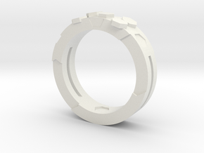 Ring Hex in White Natural Versatile Plastic