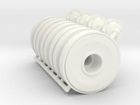 1/16 JagdPz IV Steel Wheels (x4) in White Processed Versatile Plastic