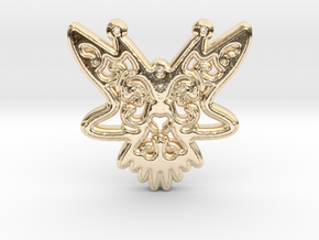 ButterFly Pendant in 14k Gold Plated Brass