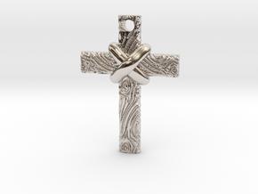 Wooden Cross in Platinum