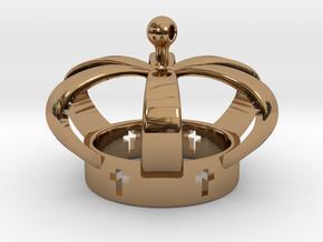 Crown, Kroon in Polished Brass